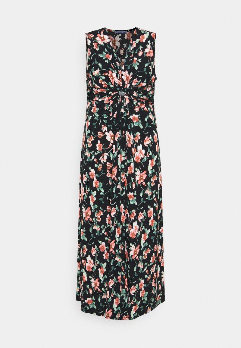 Anna Field Curvy - Maxi dress - black/pink/dark green