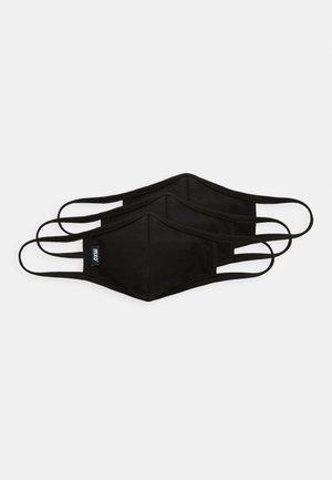 KIDS FACEMASK 3 PACK - Munnbind i tøy - black