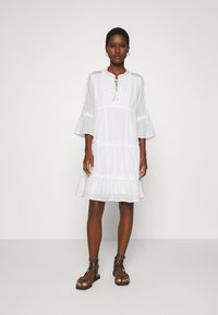 Esqualo - DRESS PLUMETIS - Shirt dress - off white - 0