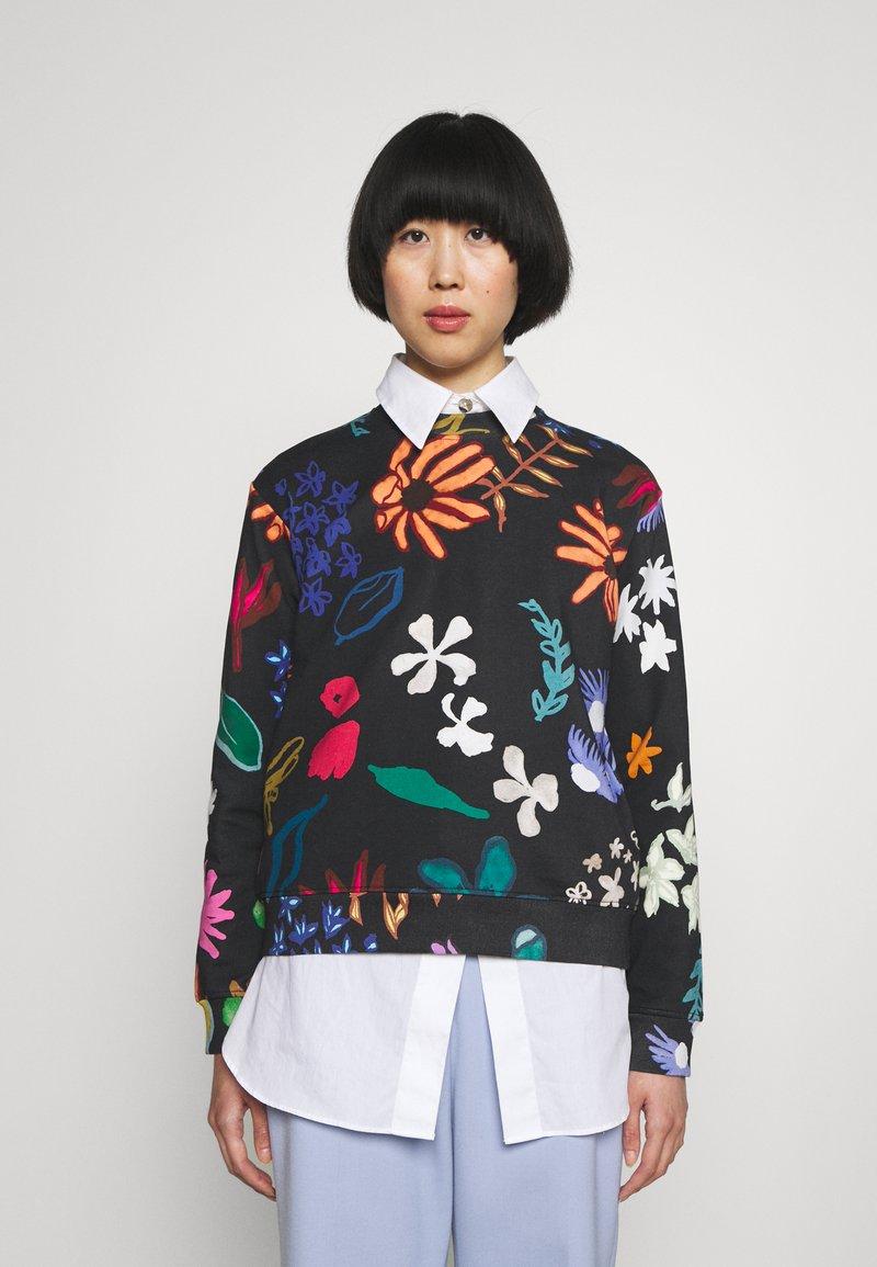 Paul Smith - PAINTED FLORAL - Sweatshirt - black