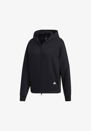 3-STRIPES WORDING  - Zip-up hoodie - black