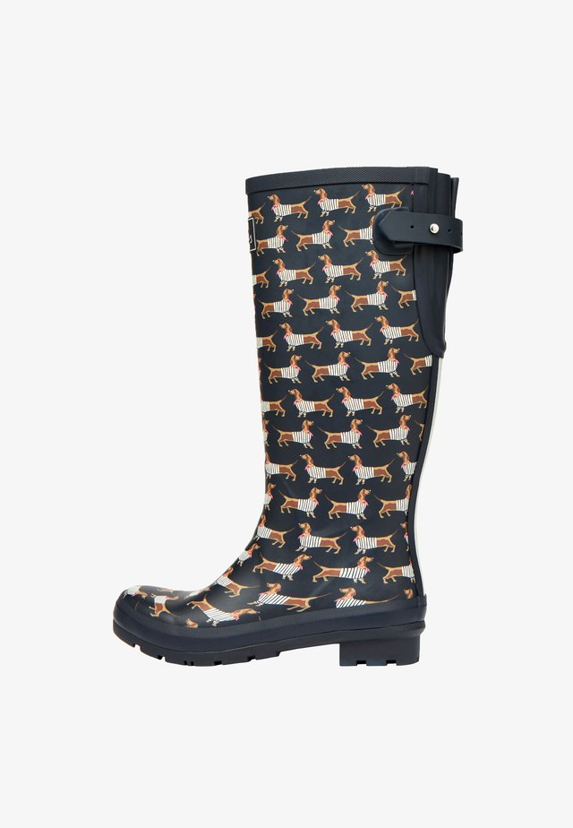 WELLY PRINT - Kumisaappaat - blau