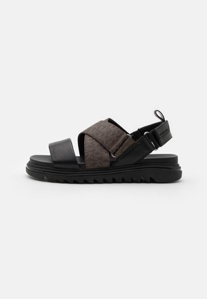 DAMON SLIDE - Sandali - black/brown