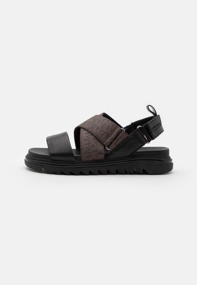 DAMON SLIDE - Sandals - black/brown