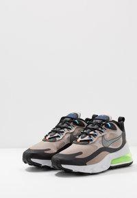 Nike Sportswear - AIR MAX 270 REACT WTR - Sneaker low - sepia stone/black/moon particle/vast grey/electric green/total orange - 2