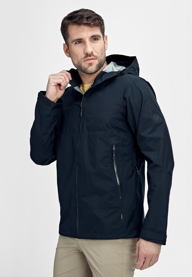 CONVEY TOUR HOODED JACKET MEN - Hardshell jacket - marine