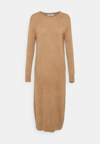 CREW NECK DRESS - Jumper dress - dark beige