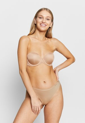 DAMEN STRING 2ER PACK - Thong - beige