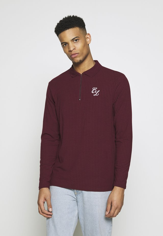 TONAL ZIP SLEEVED - Poloskjorter - port
