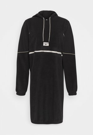 WE HOODED DRESS - Day dress - black