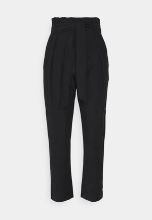 KAYO PAPERWAIST WITH BELT  - Trousers - black