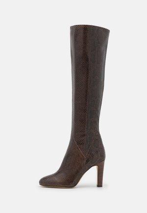 AGNA - Vysoká obuv - choco