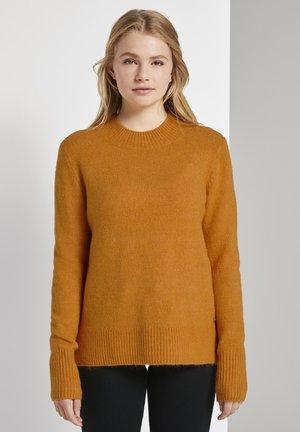 COZY MOCK NECK - Jumper - orange yellow melange