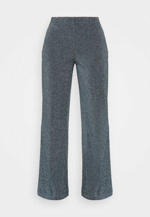 GLITTER PIRLA - Trousers - frosty blue