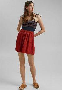 edc by Esprit - A-line skirt - terracotta - 1