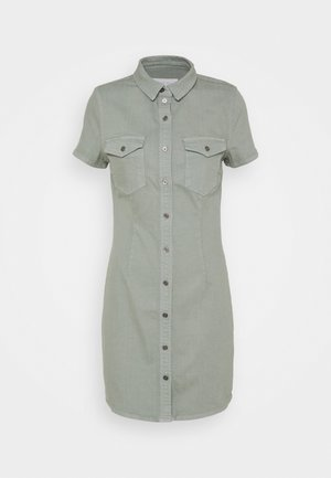 NMJOY DRESS - Shirt dress - slate gray