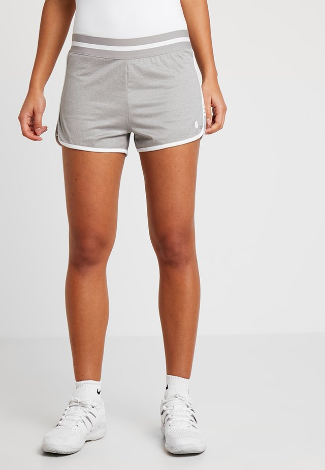 HYPERCOURT SHORT - Sportovní kraťasy - light grey melange/white