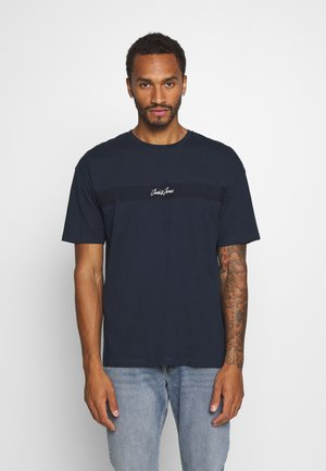 JORCOARSE TEE CREW NECK - Print T-shirt - navy blazer