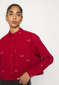 Tommy Jeans - CRITTER  - Button-down blouse - wine red - 3