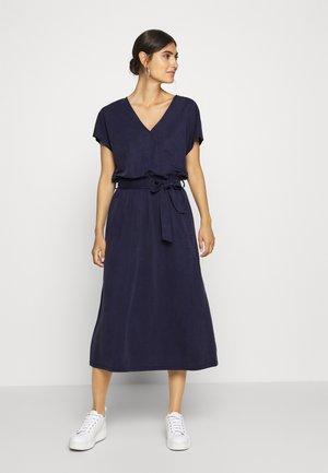 Day dress - dark steel blue