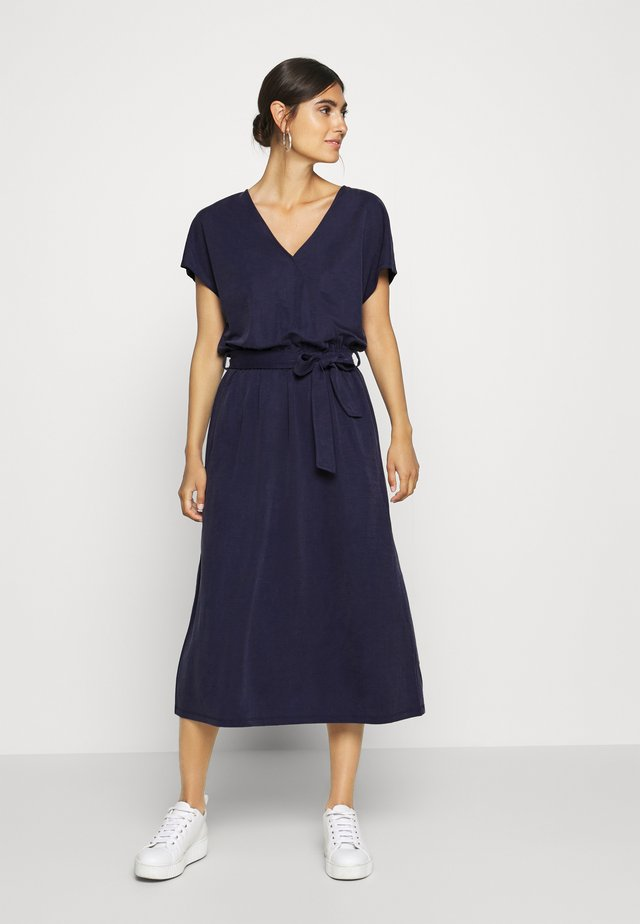 Day dress - dark steel blue