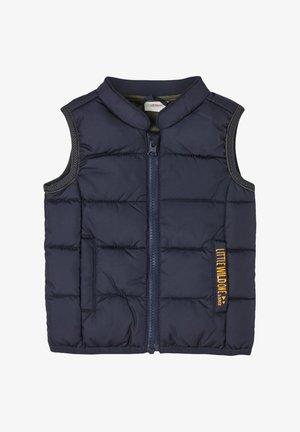 BODYWARMER MET PRINTDETAIL - Waistcoat - dark blue
