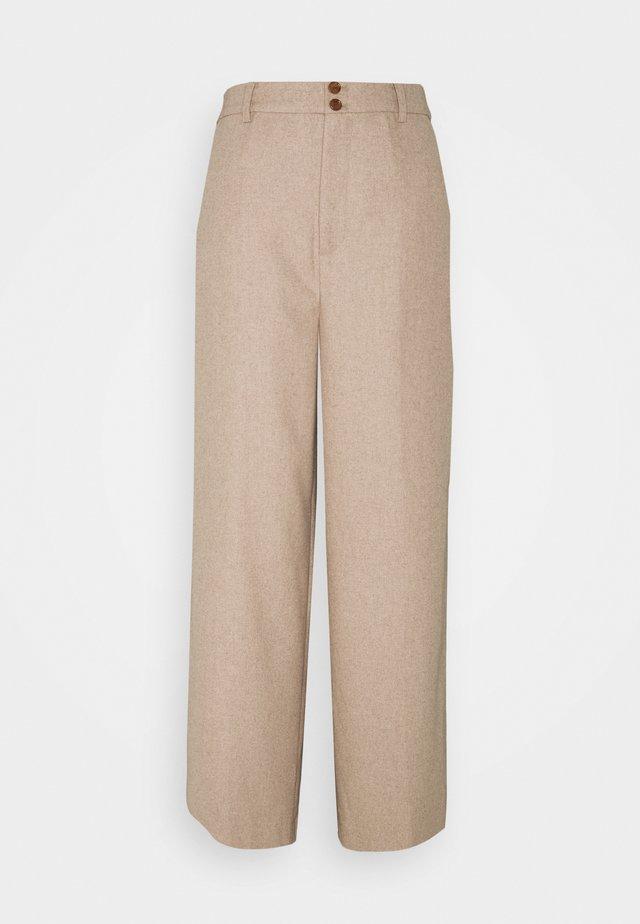 LEANDRA - Spodnie materiałowe - beige melange