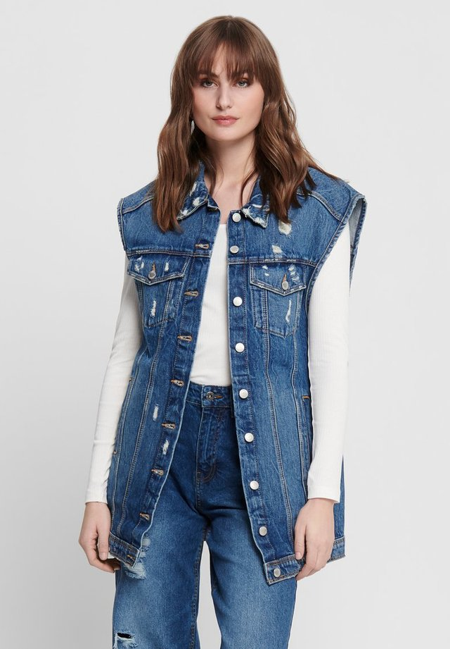 Veste sans manches - dark blue denim