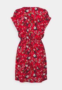 Vero Moda - VMSIMPLY EASY TIE SHORT DRESS - Robe d'été - goji berry/lotte - 1
