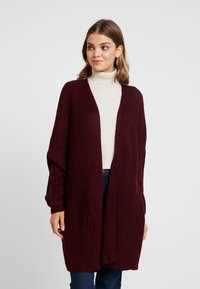 Missguided - OVERSIZED BATWING CARDIGAN - Kardigan - burgundy - 0