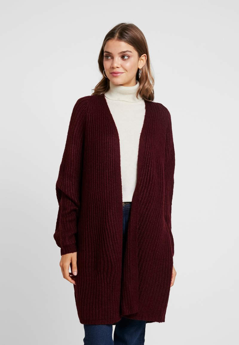 Missguided - OVERSIZED BATWING CARDIGAN - Kardigan - burgundy