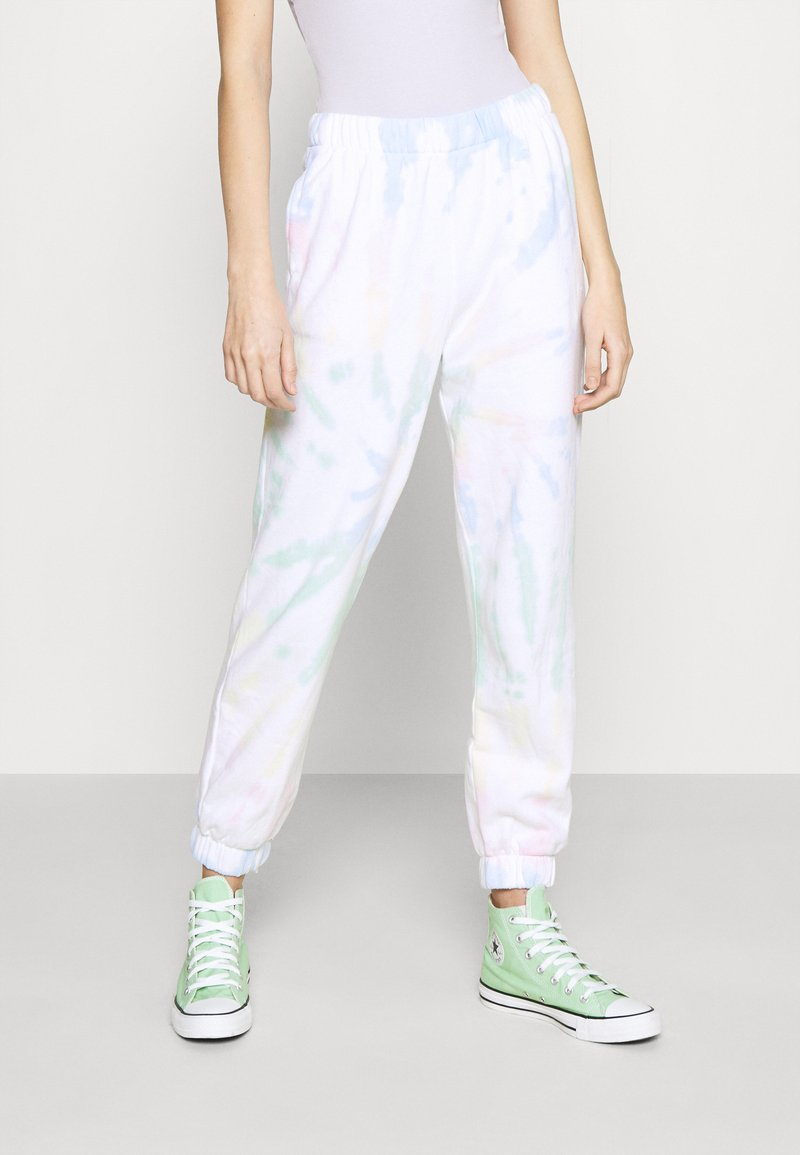 Hollister Co. - CHAIN DAD JOGGER - Tracksuit bottoms - neon tie-dye