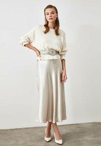 Trendyol - A-line skirt - silver - 1