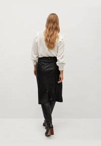 Violeta by Mango - Leather skirt - black