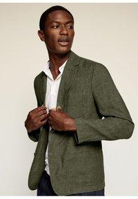 Mango - Blazer jacket - kaki - 0