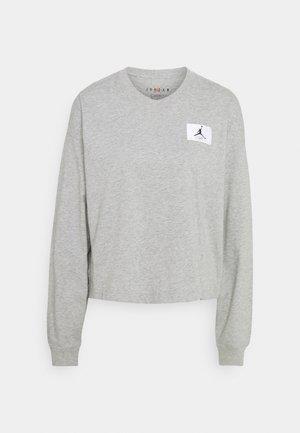 ESSENTIAL BOXY TEE - Camiseta de manga larga - dark grey heather