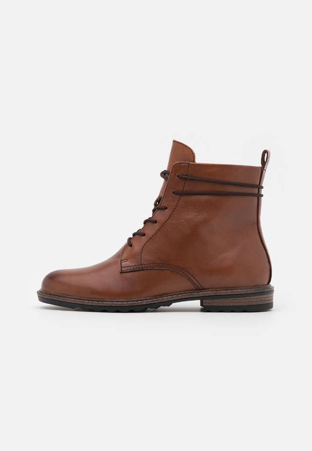 BOOTS - Bottines à lacets - mahogany