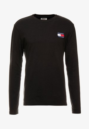 BADGE LONGSLEEVE TEE - Langærmede T-shirts - black