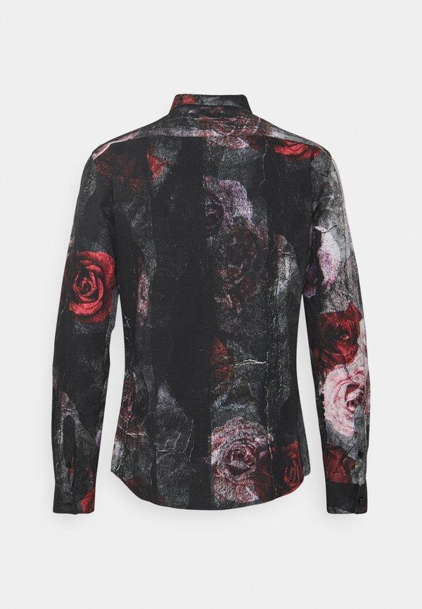 Twisted Tailor TORN - Koszula - black red/czarny Odzież Męska ESGE