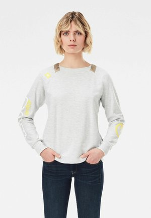 SLEEVE PRINT TWEATER - Sweatshirt - milk htr