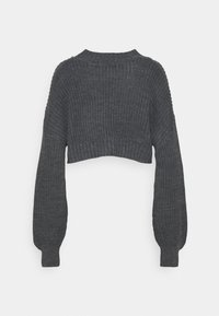 Missguided Petite - CROPPED CABLE JUMPER - Jumper - grey - 1