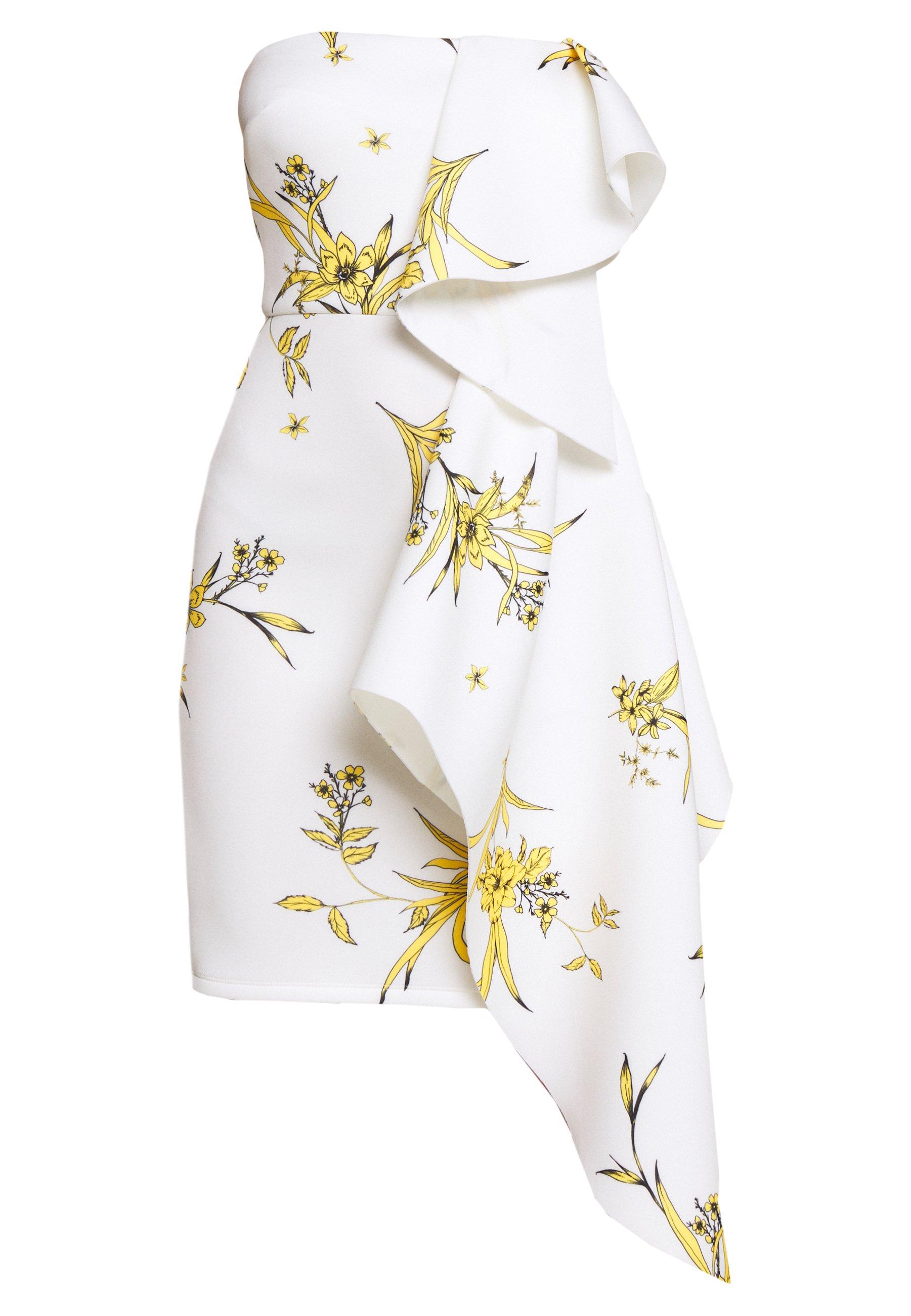 True Violet Petite Bandeau Mini Dress With Peplum Petite Cocktailkleid Festliches Kleid Ivory Weiss Zalando De