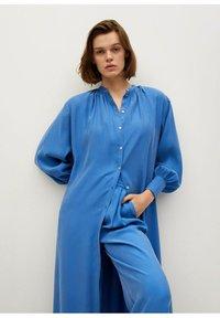 Mango - Skjortekjole - blau - 3