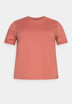 PCRIA FOLD UP SOLID TEE - T-shirt basic - canyon rose