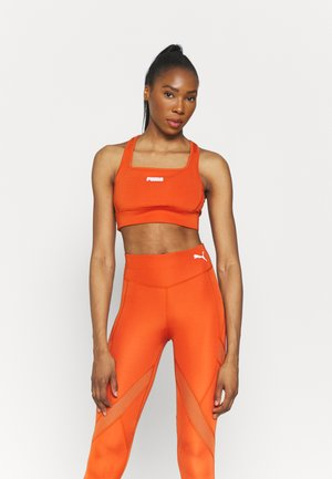 PAMELA REIF X PUMA SQUARE NECK BRA - Medium support sports bra - burnt orchre