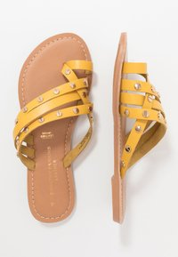 Dorothy Perkins - JANGO STUD TRIM SLIDE - T-bar sandals - yellow