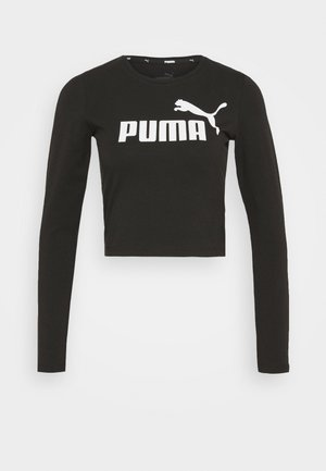 LOGO FITTED TEE - Long sleeved top - black
