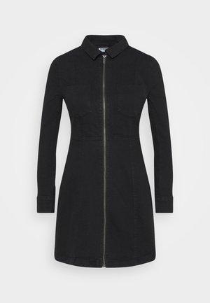NMLISA ZIP DRESS  - Denim dress - black denim