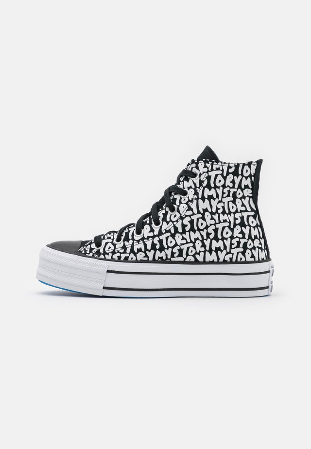 CHUCK TAYLOR ALL STAR PLATFORM MY STORY - Sneakers alte - black/egret/digital blue
