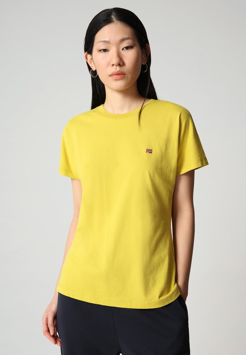 Napapijri - SALIS - Basic T-shirt - yellow moss